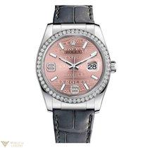 Rolex Datejust 18K White Gold & Diamond Watch