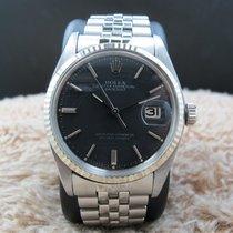 Rolex DATEJUST 1601 SS Original Matt Black SIGMA Dial