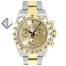 Rolex Daytona Steel Gold Champagne Dial - 116503