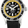 Breitling Superocean Black Yellow Dial Mens Watch A1736...