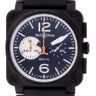 Bell & Ross - BR 03-94 Black and White Carbon Chronograph...