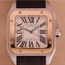 Cartier Santos 100 GM Goud Staal