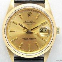 Rolex Oyster Date 15238 18K quadrante oro full set