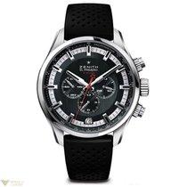 Zenith El Primero Sport Chronograph Steel Rubber Men`s Watch
