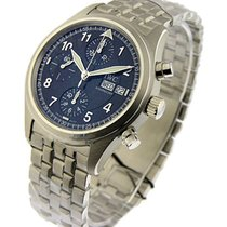 IWC IW3706 Pilots Chronograph Spitfire in Steel - on Steel...