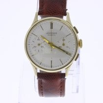 Leonidas Vintage Chronograph 18K Gold 2 Register