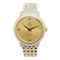 Omega De Ville Gold Steel Diamond Gold Automatic 424.25.33.20....
