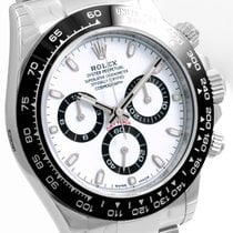 Rolex Ceramic SS 40mm Daytona White Dial 116500LN Model Unworn