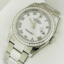 Rolex Oyster Perpetual Datejust 36mm Diamond 116244 White Dial