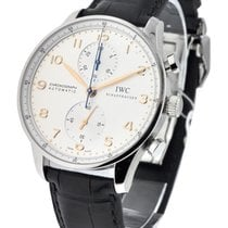IWC IW371401 Portuguese - Automatic Chronograph - Steel on...