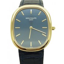 Patek Philippe 3738/100J-012 Golden Ellipse 31.1 x 35.6mm Blue...