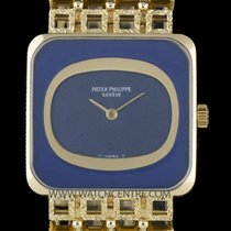 Patek Philippe 18k Y/G Blue Dial Gents Dress Vintage Wristwatc...