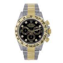 Rolex DAYTONA Steel & 18K Yellow Gold Black Diamond Dial