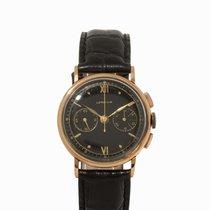 Lemania Chronograph, 18K Rose Gold, Switzerland, 1950s