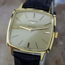 Longines Turler Swiss Made 1980s Mens Manual Gold Plated 30mm...