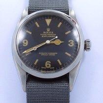 Rolex Explorer I 6610 Vintage Rare 2 Million Steel Black...
