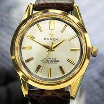Buren Mens Vintage Large Swiss Gold Filled Automatic Dress...