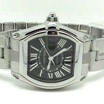 Cartier Roadster Tonneau Steel Black Roman Dial (Full Set)