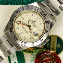 Rolex Explorer II 16550 cream dial stunning B/P 1987