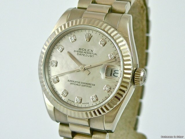 Rolex , Datejust Medium Size, Ref. 178279, 18ct. WG