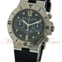 Bulgari Diagono Professional Acqua, Black Dial - Stainless...