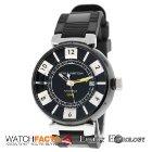 Louis Vuitton Authentic Mint Men Tambour GMT Q113K Automatic