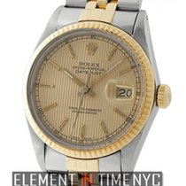 Rolex Datejust Steel & Yellow Gold Tuxedo Champagne Dial R...
