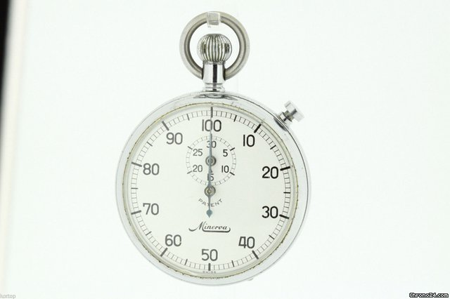 Minerva Stainless Steel Stopwatch Running (956) sold on