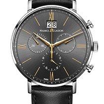 Maurice Lacroix Eliros Chronographe Black Dial Gold Hands,...
