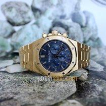Audemars Piguet royal oak chronograph yellow gold blue dial
