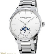 Frederique Constant Slimline Moonphase Stainless Steel Men`s...