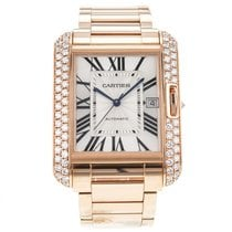 Cartier Tank Anglaise Xl 18k Rose Gold Men's Watch With...