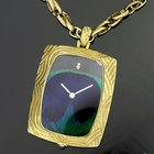 Corum 18k Feather Peacock Pendant Watch Gold Sold By Van Cleef...
