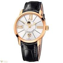 Ulysse Nardin Classico Luna Rose Gold 18K Black Strap Men`s Watch