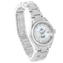 Omega Aqua Terra 29mm Mother Of Pearl Diamond Ladies Watch...