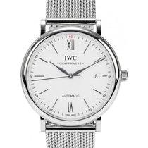 IWC Schaffhausen IW356505 Portofino Automatic Silver Plated...