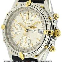 Breitling Chronomat Chronograph 2Tone Silver Dial 39mm