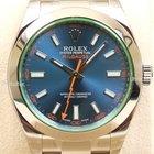 Rolex Milgauss, Ref. 116400GV-blaues ZB, LAGERND, 2014
