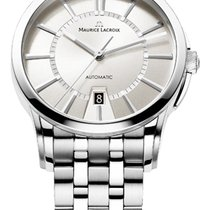 Maurice Lacroix Date Steel Strap, White Dial, Silver Hands and...