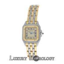 Cartier Mint Ladies Panthere Three Row 18K Gold Steel 22mm Quartz
