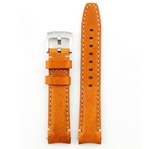 Everest Curved End Leather Strap With Tang Buckle - Tan
