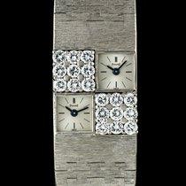 Piaget 18k W/G Diamond Set Dual Time Ladies Cocktail Watch 1037A6