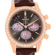 Omega Deville Co-axial 18k Rose Gold Diamond Ladies Watch...