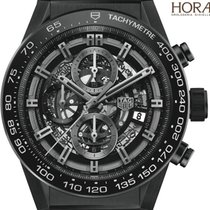 TAG Heuer Men's Aquaracer 300M 41mm Titanium Black dial...