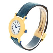 Cartier Diabolo 18k Yellow Gold Small Quartz Ladies Watch 1400