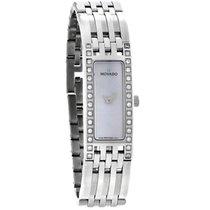 Movado Esperanza Diamond Ladies MOP Stainless Steel Watch 0606302