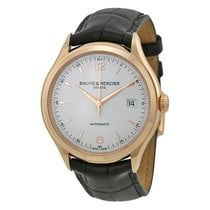 Baume & Mercier Baume and Mercier Clifton Silver Dial 18kt...