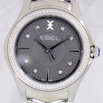 Ebel Wave Lady Grande Diamond Dial Bezel Yellow Gold NEU B+P 35mm
