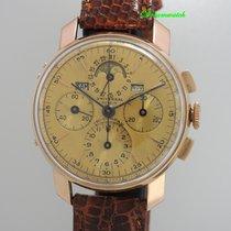 Universal Genève Vollkalender mit Mondphase Chronograph 18k Gold