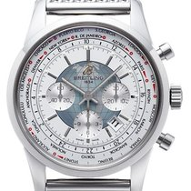 Breitling Transocean Chronograph Unitime Stahlband Ocean Classic